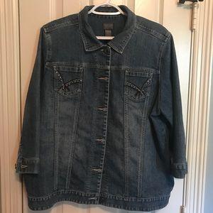 Chico's 3/4 length sleeve denim jacket